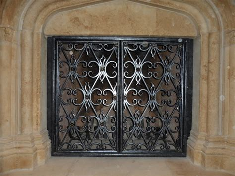 Fireplace Doors Dallas wrought iron fireplace screens dallas by iron llc