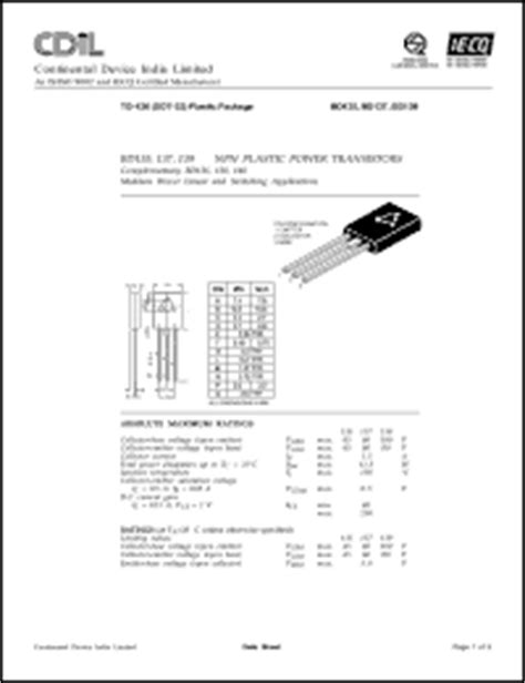 bd139 equivalent transistor replacement continental device india ltd bd135 series datasheets bd135 bd137 25 bd139 10 bd139 25 bd139