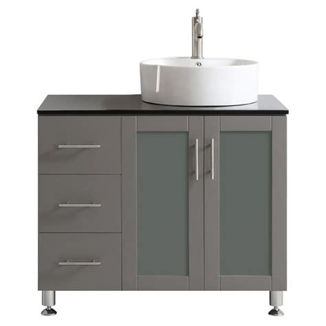 vinnova tuscany 36 inch grey single vanity with white