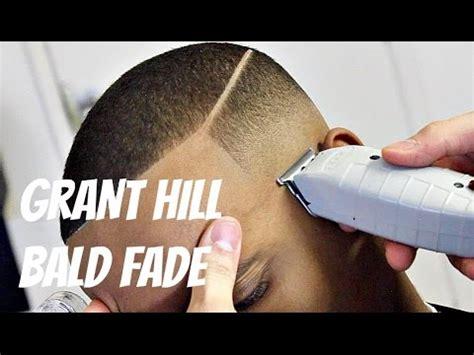 diy fade barber tutorial grant hill bald fade hd youtube