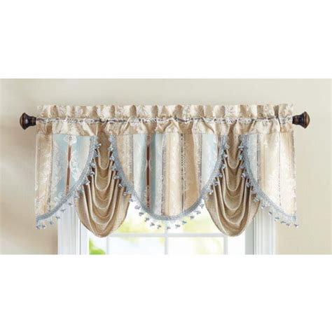 festoon curtains better homes and gardens formal swag valance walmart com