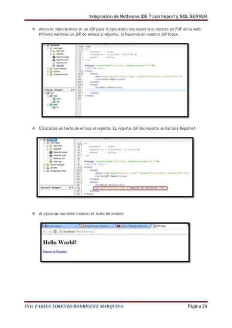 netbeans tutorial for jsp pdf integraci 243 n de netbeans con ireport y sql server