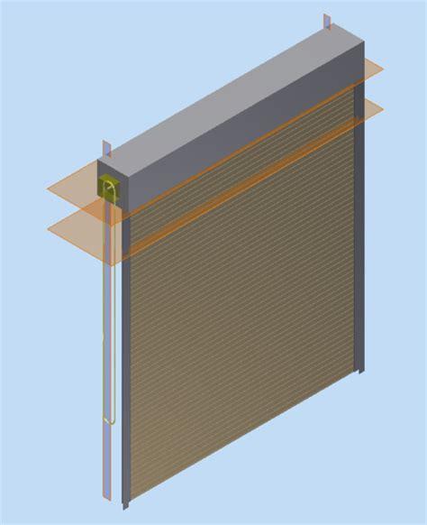 Overhead Roll Up Doors Overhead Roll Up Door Stl Step Iges 3d Cad Model Grabcad