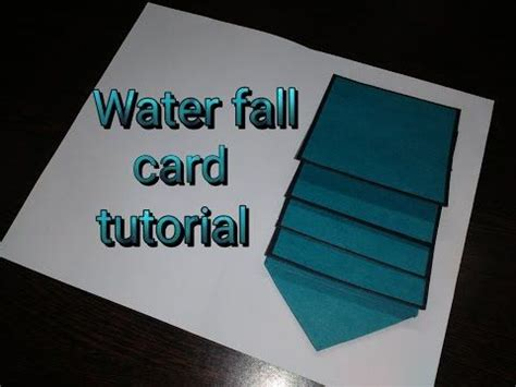 Mini Waterfall Card Template by Tutorial Template And Easy Waterfall Card