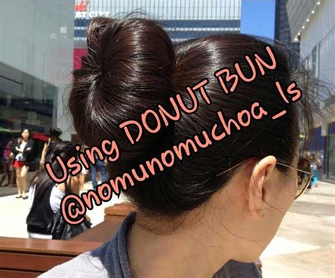 sale donut bun ombre bando wig 3 layer hair clip premium quality import