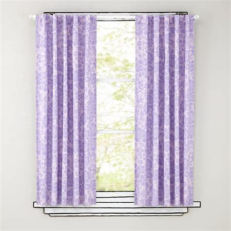 New Baby Kids Decor The Land Of Nod Purple Curtains For Nursery