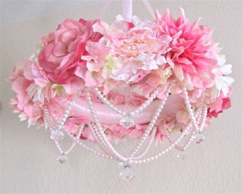 Flower Crib Mobile by Baby Mobile Flower Crib Mobile Floral Chandelier Shabby