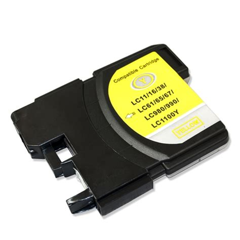 brother dcp j125 yellow ink cartridge 325 pages brother lc61y compatible yellow ink cartridge