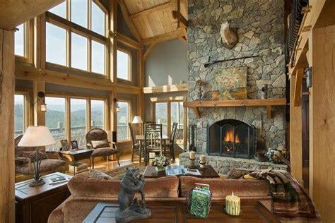 wall  windows   cozy timber frame home