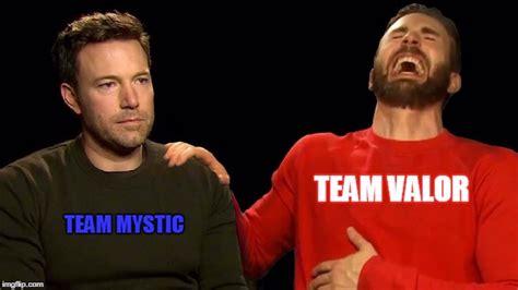 Team Valor Memes - team valor vs team mystic imgflip
