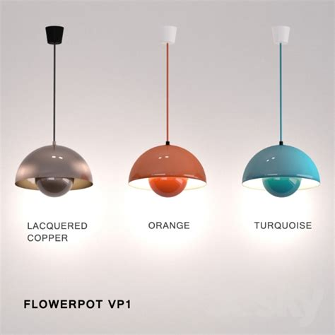Flower Ceiling Light by 3d Models Ceiling Light Flowerpot Vp1 Amp Tradition