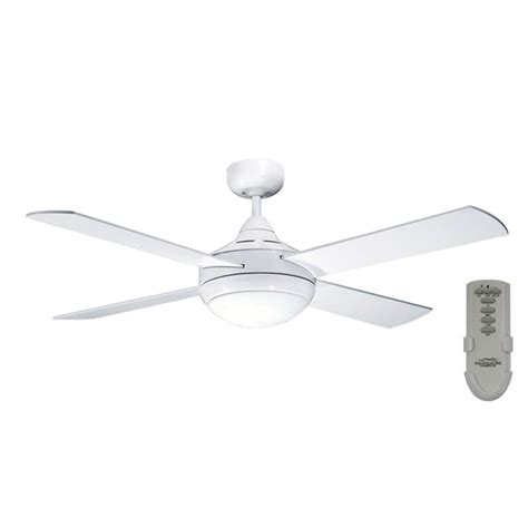 seasons brand ceiling fans primo ceiling fan with light and remote in white 48