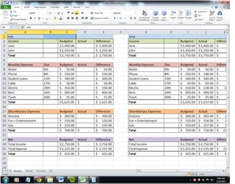Budget Management Spreadsheet by Show Me The Money Paying The Rest Of The Bills