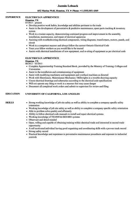 apprentice electrician resume sles lovely electrician apprenticeship resume photos exle