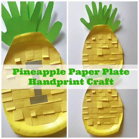 Pineapple Paper Craft - make these handprint pineapple crafts will