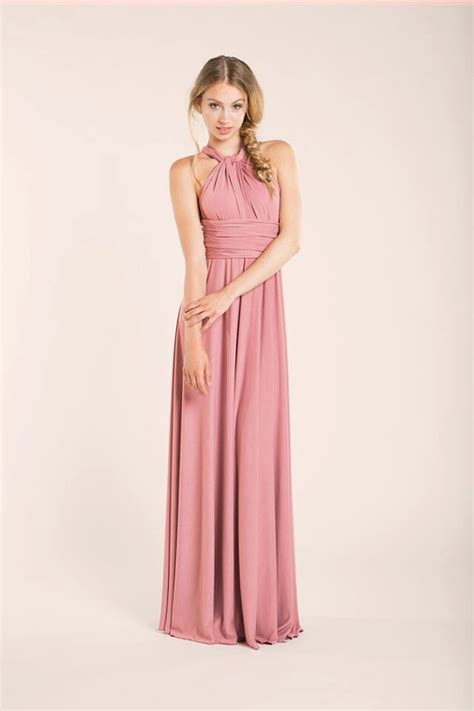 powder pink rosa palo bridesmaid dress bridesmaids