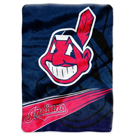 cleveland indians comforter cleveland indians mlb quot speed quot 60 quot x 80 quot super plush throw