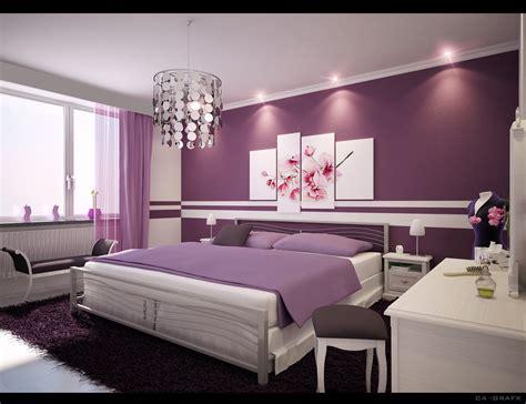 yellow purple bedroom: home interior designs simple ideas for purple room design