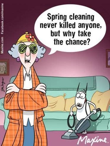spring cleaning humor people  ideas maxine clean