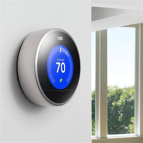 Nest Learning Thermostat, 2nd Generation, Works with Alexa   Programmable Household Thermostats
