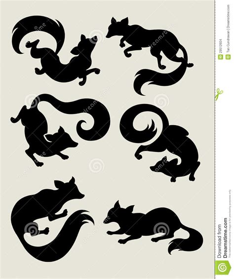 black and white mr fox a pipe design fox silhouette symbols stock images image 29512604
