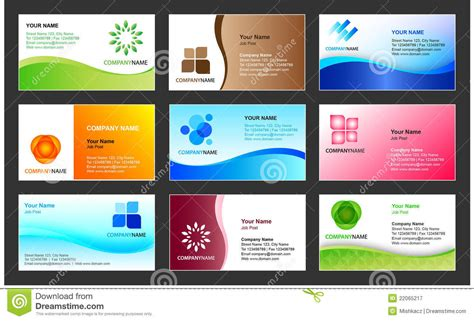 visiting card templates free software business card template design stock vector illustration