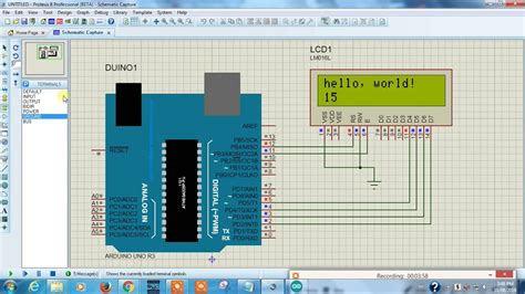 arduino   lcd display proteus arduino proteus