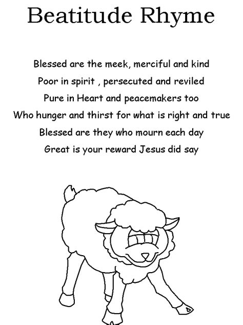 beatitudes poem sunday school craft pinterest