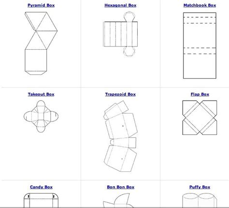free cardstock templates all sorts of free box patterns great for recycling paper