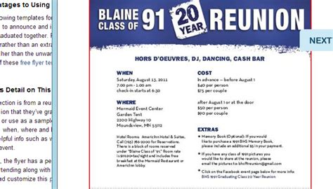 class reunion program template 5 high school reunion flyer templates af templates