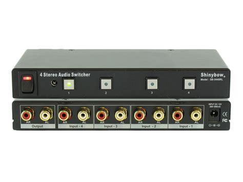 Switch Audio 4x1 4 1 stereo analog audio switch switcher selector remote sb 5440rl ebay