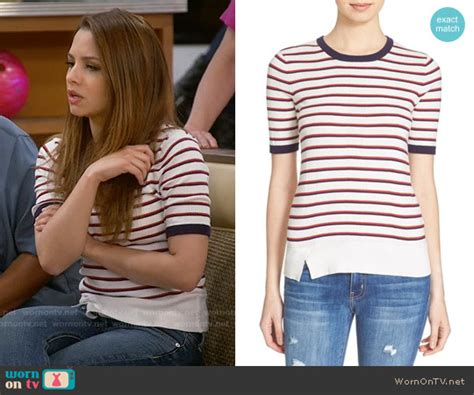 Aimee Stripes Top wornontv sofia s striped top on and hungry aimee