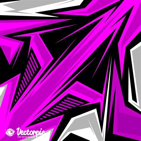 Tshirt Kaos Alpinestar 5 racing stripes abstract line purple background free vector