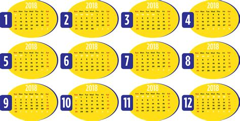 Calendrier 2018 Png Free Vector Graphic Calendar Business 2018 Week Free