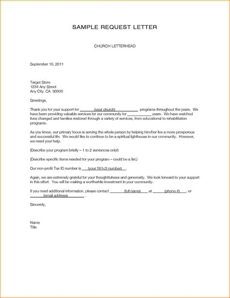 Request Letter Format Exle 6 Formal Letter Format Sle Of Request Financial Statement Form