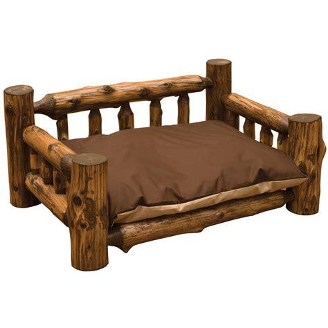 cedar dog bed vintage cedar log dog bed with mattress