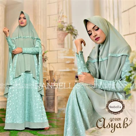 Dan Gamis Syari Green By Quillavers asyah green baju muslim gamis modern