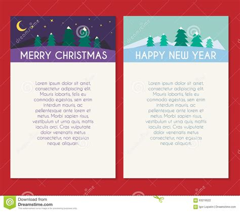christmas greeting card vector template stock vector