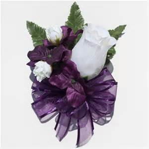 corsage colors eggplant purple hydrangea and roses silk flowers corsage