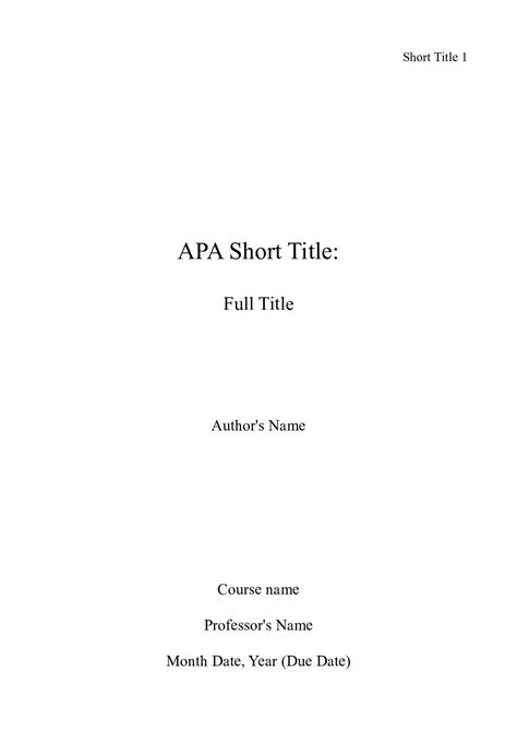 picture of of an apa title page apa essay help with