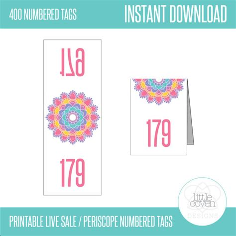 printable numbers for live sales printable live sale facebook periscope by littlecovendesigns