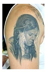 American Tattoos And Meanings Woman Indian Portrait Tattoo