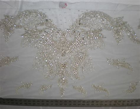 white beaded lace fabric white bridal beaded lace by fabric universe