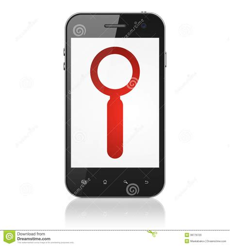 search on mobile phone web design concept search on smartphone stock photo