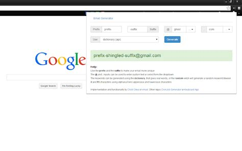 email random email address generator chrome web store