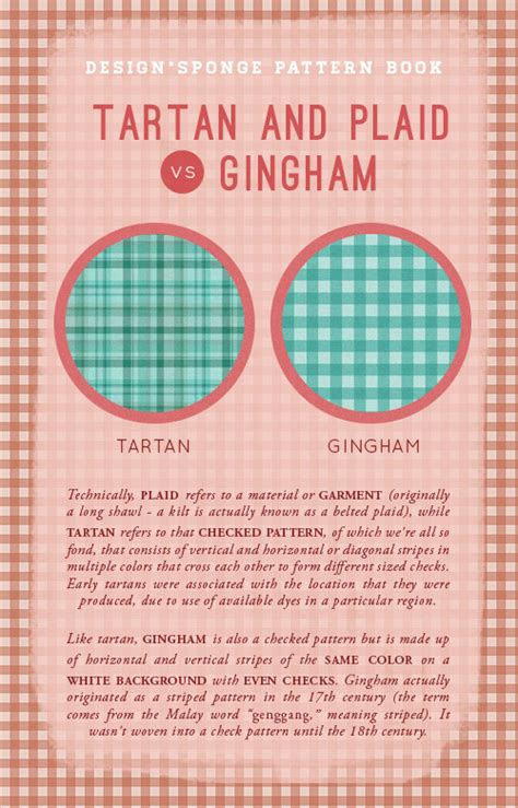 tartan vs plaid d s pattern book tartan vs gingham design sponge