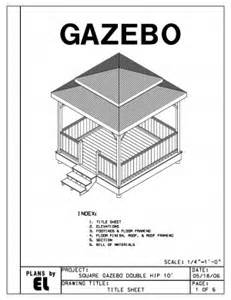 Double Hip Roof 4 Sided Gazebo Double Hip Roof Building Plans Blueprints