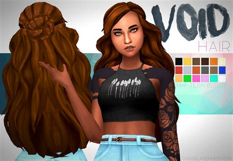 match hairstyles games my sims 4 blog void hair by chocolatemuffintop