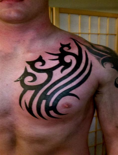 guys with tribal tattoos tribal chest tattoos designs ideas and meaning tattoos