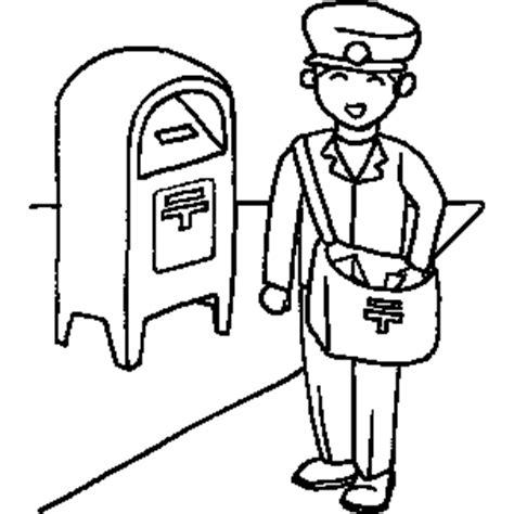 mailman coloring sheet